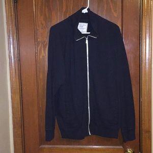 Black zip front sweat shirt